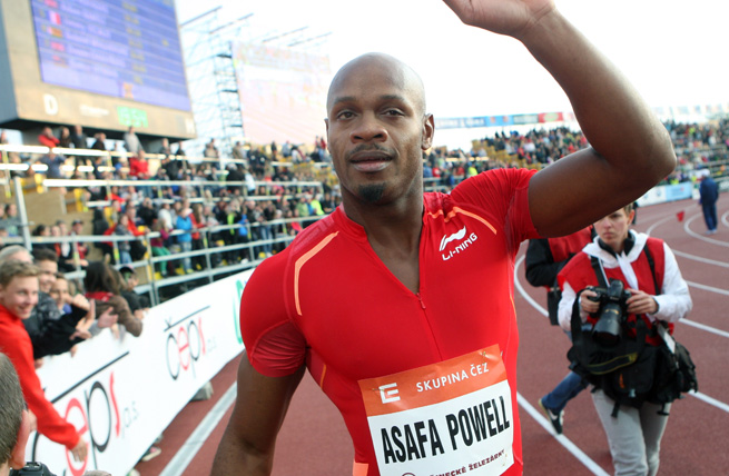 Asafa Powell held the 100-meter world record before Usain Bolt broke his mark in 2008.