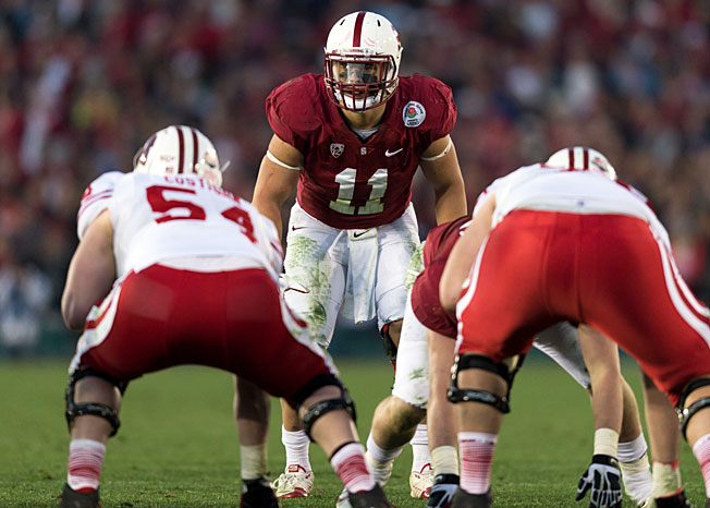 Shayne Skov (11) was a key cog in a Stanford defense that ranked fifth nationally against the run in '12.