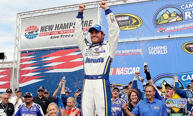 Brian Vickers snapped a 75-race losing streak with a victory at New Hampshire on Sunday.
