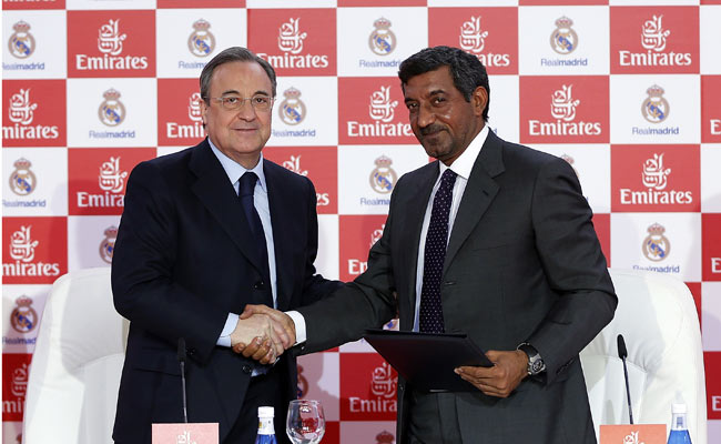Real Madrid reached an agreement with Emirates airline earlier this year.