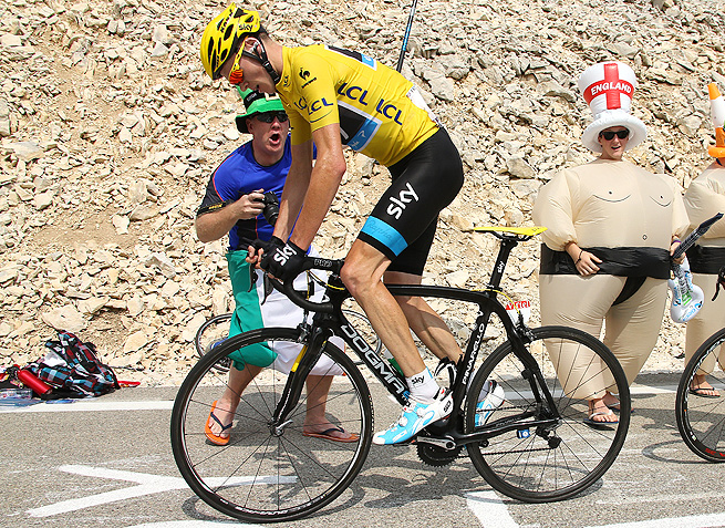 Chris Froome holds a lead of more than four minutes with just six stages remaining in the Tour de France.