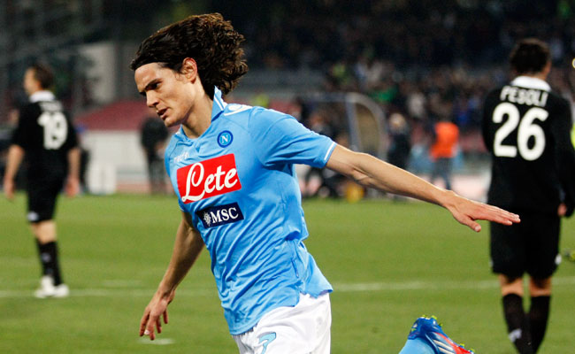 Uruguayan striker Edinson Cavani spent the past three season with Napoli.