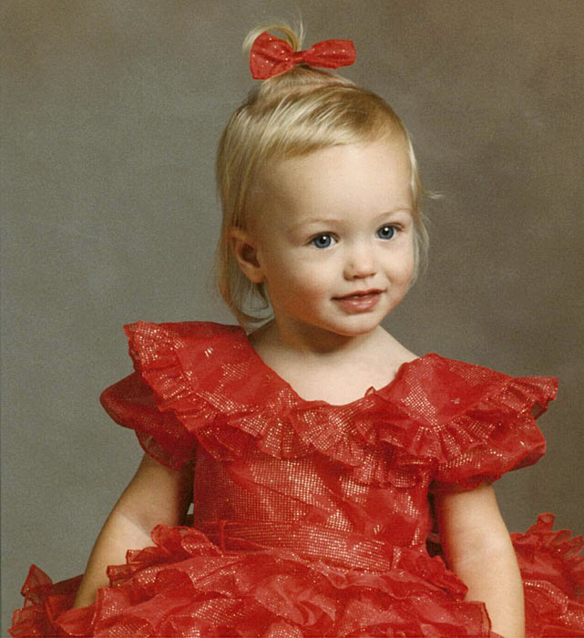"""Rachel's mother, Linda, says that her daughter wore this little red sparkly dress all the time -- to the grocery store, playing at home. """"She would only wear dresses for a long time and they had to spin when she twirled,"""" says Linda. """"She was a real girly girl."""""""