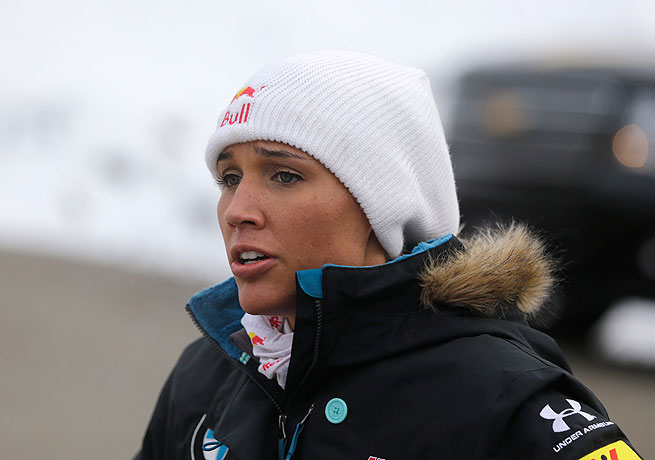 Lolo Jones helped the U.S. bobsled team win a gold medal in the sport's last world championships.