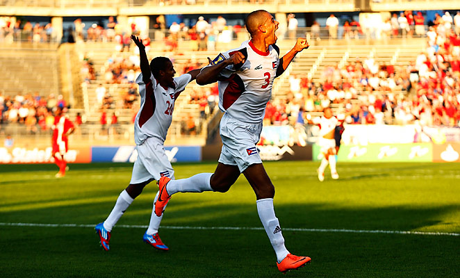 Jeniel Molina scored the winning goal for the Cubans in stoppage time to clinch a quarterfinal spot.