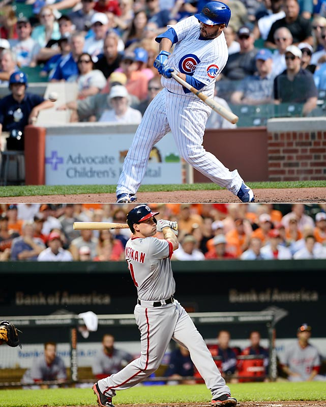 By the All-Star break, four players -- Miguel Cabrera, Will Middlebrooks, Dioner Navarro and Ryan Zimmerman -- had each hit three home runs in a game, but Navarro and Zimmerman pulled the trick on the same day. Navarro hit his trio to help the Cubs beat the White Sox at Wrigley Field while Zimmerman's blasts weren't enough to help the Nationals, who lost to the Orioles. It was just the second time since 2006 that two players each hit three homers on the same day.