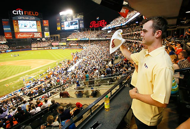 Despite having allowed only three home runs in over 38 innings in 2013, Yankees All-Star David Robertson is probably glad he's not pitching to the players hitting in the 2013 Home Run Derby at Citi Field. Instead, he took on an easier task -- starting the wave.