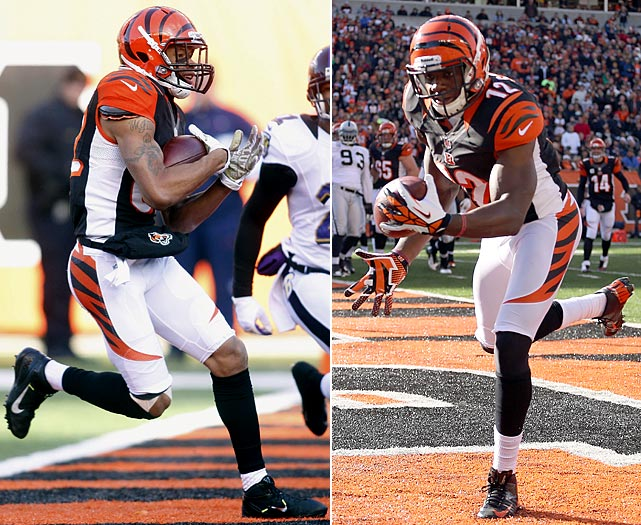 Take your pick between Jones and Mohamed Sanu, the two players who again will scrap for the Bengals' No. 2 receiver spot. Neither did much during his rookie season -- Sanu, the 2012 third-rounder, had just 16 catches; Jones, a fifth-rounder and the starter down the stretch, tallied only 18. The Bengals need way more than that, opposite A.J. Green, for this offense to soar.
