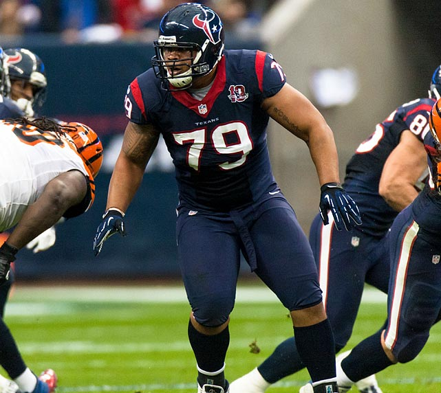 The Texans' 2012 third-round pick never cracked the starting lineup during a complete letdown of a rookie season. He has slimmed down this summer, in hopes of making amends for his early woes. And the Texans are counting on him to provide a boost a right guard, a spot where they struggled throughout last year.
