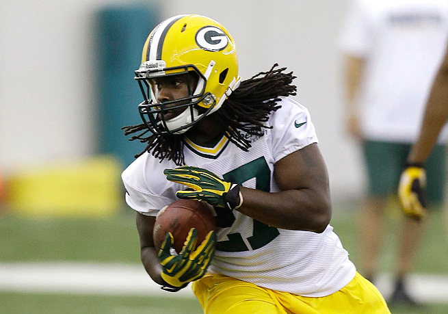 Following a stellar junior year at Alabama, Eddie Lacy jumps to the top of the Packers' depth chart.