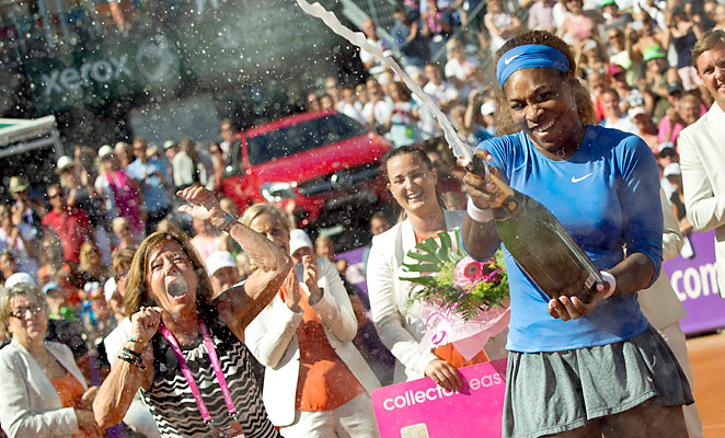 Serena Williams won her 53rd WTA title at the Swedish Open on Sunday.