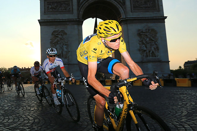 Chris Froome is Britain's second consecutive Tour de France winner, as Bradley Wiggins won in 2012.