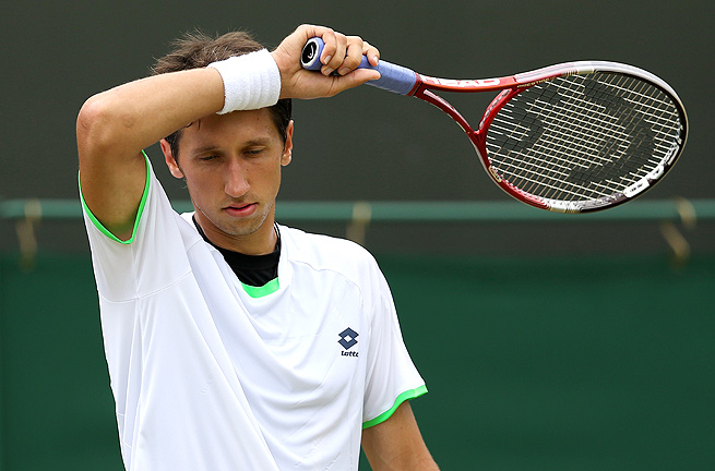 Sergiy Stakhovsky hasn't won a match since beating Roger Federer in the second round at Wimbledon.