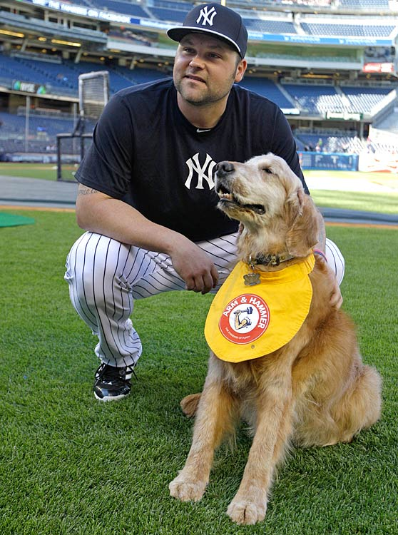 Chase retrieves bats for the Yankees minor league team, the Trenton Thunder.