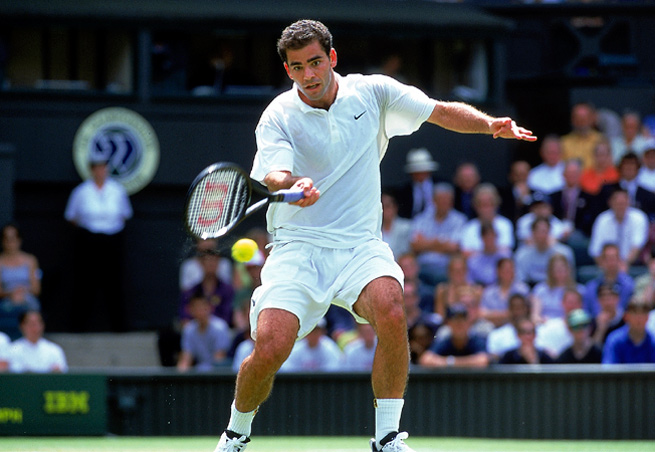 Pete Sampras won Wimbledon a record seven times -- every year from 1993 to 2000 except 1996.