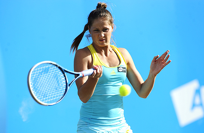 Defending champion Bojana Jovanovski fell to wild-card entry Ons Jabeur 6-2, 7-5 in the second round.