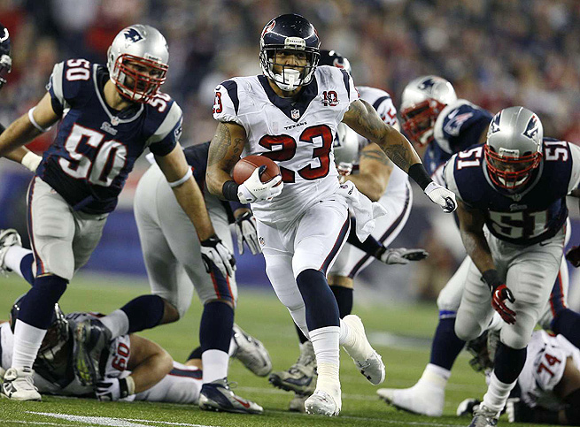 Arian Foster, arguably the Texans' top fantasy player, rushed for 1424 yards and 15 TDs last year.