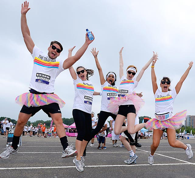 "In merrie olde Manchester, England, the cast of the British TV soap opera <italics>Hollyoaks</italics> offer proof that the Color Run is indeed ""the happiest 5k on the planet."""