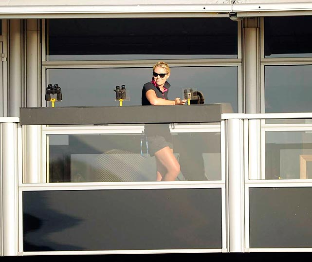 Tiger Woods' Juliet watched her Romeo in the rough from a Shakespearean balcony at the British Open.