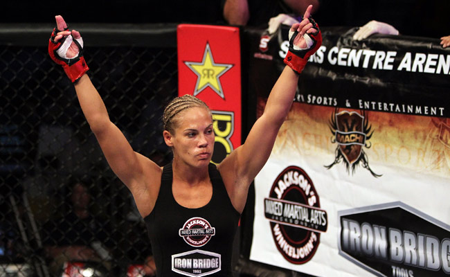 Julie Kedzie will make her UFC debut on Saturday against Germaine de Randamie.