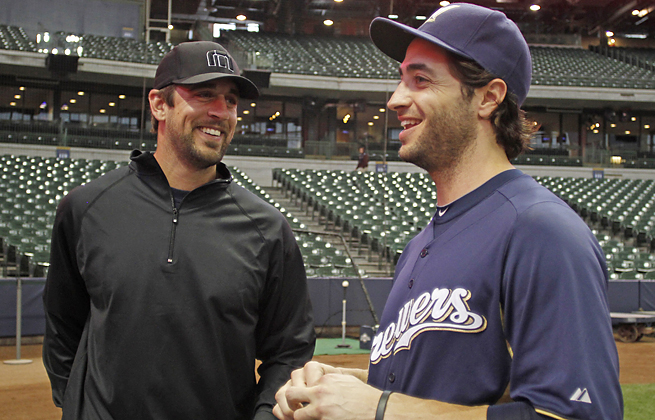 Aaron Rodgers said he was disappointed in his friend Ryan Braun, who was suspended this week.