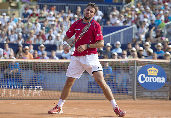 Stanislas Wawrinka was losing 6-4, 2-6, 4-3 to Feliciano Lopez when he retired from the match.