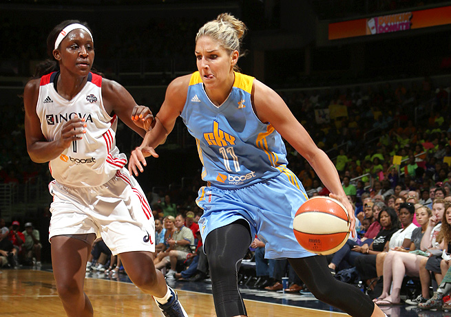 Elena Delle Donne suffered a concussion Wednesday against the Washington Mystics.