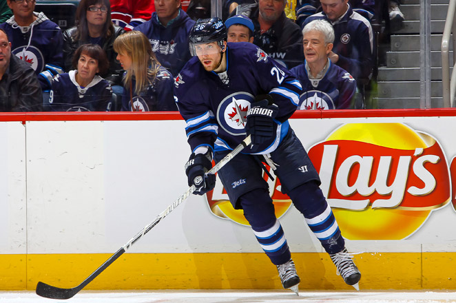 Blake Wheeler had a team-high 19 goals with 22 assists in 48 games for the Jets last season.