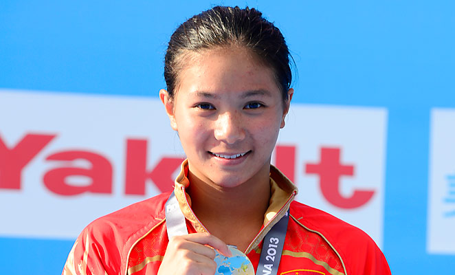He Zi claimed her second title at the World Championships on Saturday.