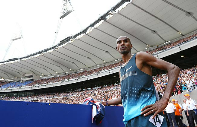 Mo Farah won the 3,000 meters at the Anniversary Games in London on Saturday.