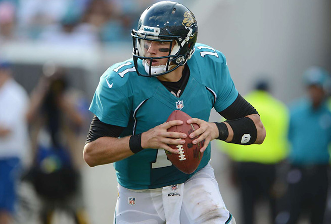 Blaine Gabbert got up and walked off after spraining his ankle in Jaguars' practice Monday.