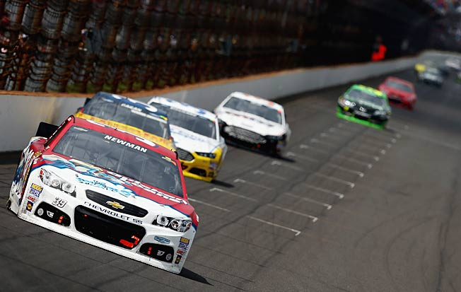 The field turned the Brickyard 400 into a leisurely Sunday drive with very little passing.
