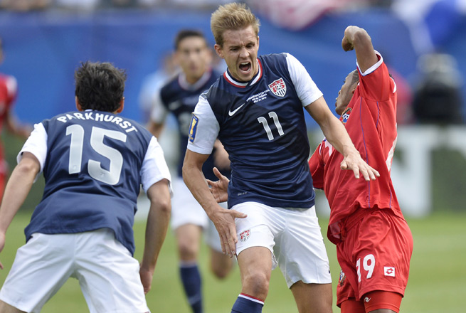 U.S. midfielder Stuart Holden tore his ACL in the first half of the States' Gold Cup title win.