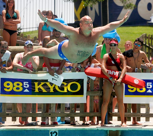 What would a summer be without swimming, diving and the always hilarious belly flop? Here are some of our favorites, both before the obvious painful landing and right at impact.