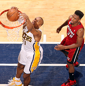 The return of David West (left), along with other offseason moves, has the Pacers poised to challenge the Heat again.