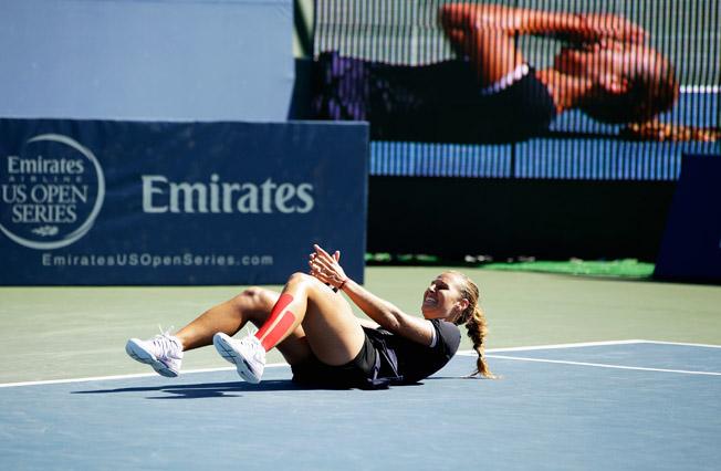 Dominika Cibulkova toppled top seed Agnieszka Radwanska to win the Bank of the West Classic.
