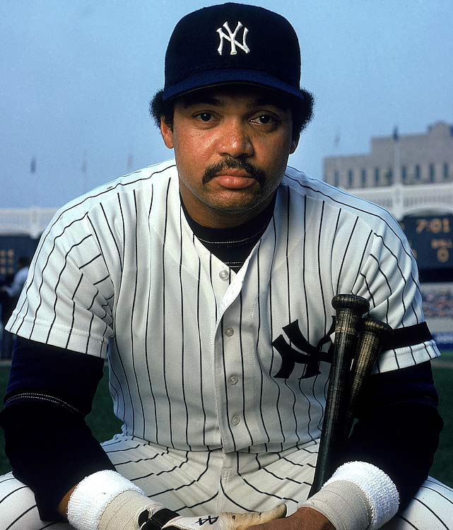 Jackson poses during a photo shoot at Yankee Stadium.