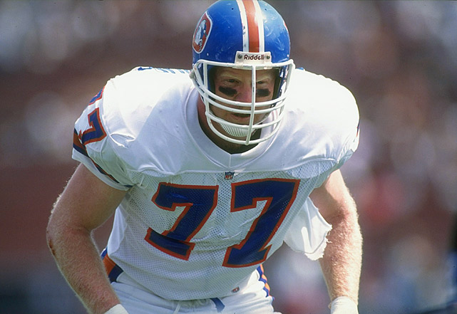 In a dozen seasons with the Broncos, Mecklenburg had 79 sacks, intercepted five passes and recovered 14 fumbles. He was a six-time Pro Bowl pick and a three-time, first-team All Pro selection. He was a Hall of Fame finalist in 2012 and 2013. Others worthy of consideration: Randy Gradishar, Lee Roy Jordan, Tommy Nobis.