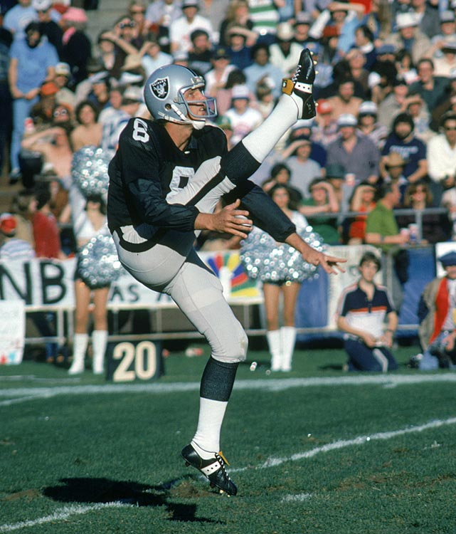 In 14 seasons, all with the Raiders, Guy averaged 42.4 yards per punt and had only three of 1,049 punts blocked. He was a seven-time Pro Bowl pick and a three-time, first-team All-Pro selection. He was a Hall of Fame finalist in 1992, 1995, 1997, 1999, 2002, 2007 and 2008. Others worthy of consideration: Sean Landeta, Jerrel Wilson, Reggie Roby.