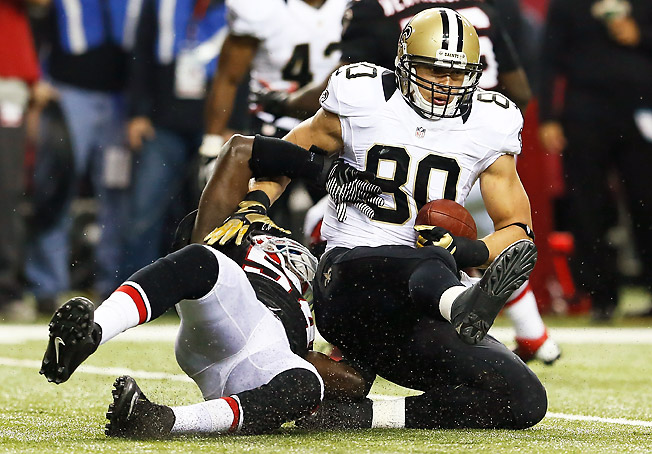 Tight end Jimmy Graham went ninth overall in this draft, well above his preseason ranking and ADP.