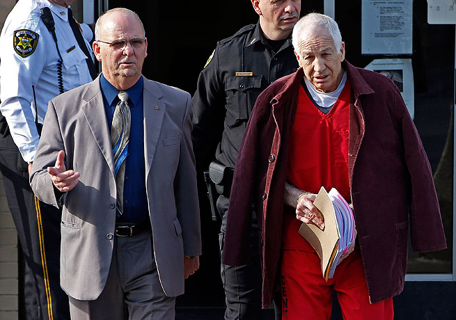 Jerry Sandusky (right) was convicted of a number of offenses that plunged Penn State into scandal.