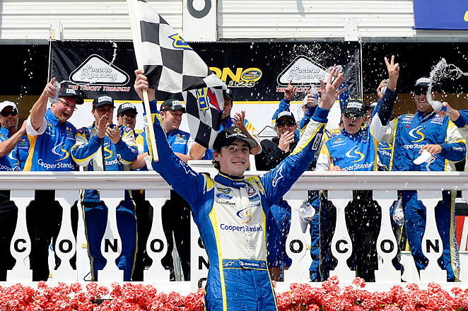 Ryan Blaney raced to his second-career Truck race win, beating pole-sitter Miguel Paludo.