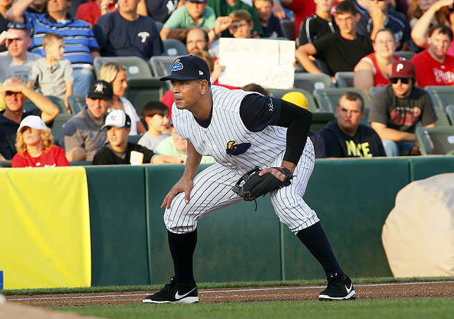 Alex Rodriguez has been on a rehab assignment with the Trenton Thunder in Double A ball.