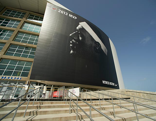 The American Airlines Arena in Miami featured LeBron James before Game 7 of the NBA Finals.