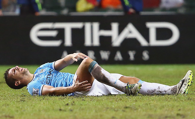 Manchester City defender Matija Nastasic injured his ankle in a preseason match against Sunderland.