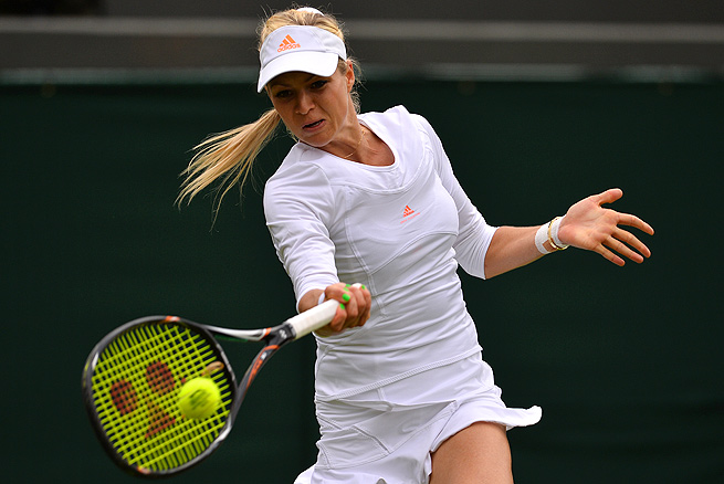 Maria Kirilenko defeated Petra Martic in straight sets in the first round of the Rogers Cup.