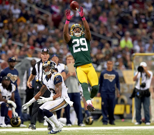 As the Packers' primary slot cornerback in 2012, Casey Heyward led the team in picks with six in his rookie season. Per Football Outsiders' Adjusted Success Rate metric, he was the most efficient pass defender in the league last year. And it wasn't just out of the slot -- per Pro Football Focus, he played 338 of his 769 snaps in the slot, and grabbed just two of his picks there. He allowed a ridiculous 47.0 quarterback rating when in the slot, the best in the NFL among qualifying players, and a 31.1 rating overall, also the best in the league. Hayward is fighting for more starting time outside, and the only thing stopping him is how great he is as a slot corner -- a position increasing in importance as offenses go with more three- and four-receiver sets in hurry-up offenses.