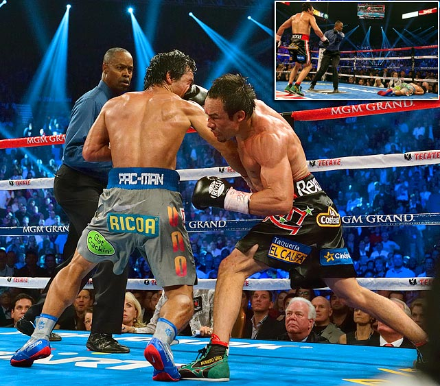 In his fourth meeting with Juan Marquez, Pacquiao was knocked outing the sixth round, marking the first time in his career he'd lost consecutive bouts.