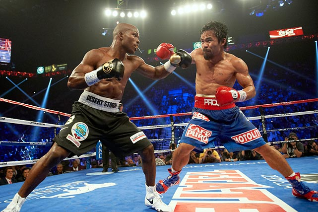 In a controversial split decision ruling that even the WBO itself said should have gone the other way, Pacquiao was robbed of a win over Timothy Bradley. The judges at ringside scored it 115-113, 113-115, 113-115, which most media observers had Pacquiao winning by a large margin.