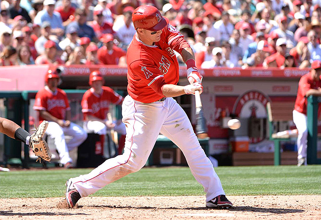 Mike Trout's advanced stats this year reveal how his hitting has improved upon his rookie season.